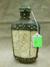 Chinese Large Brass Snuff Bottle