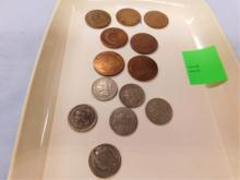 7 - 3 cent and 7- 3 cent coins