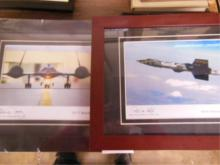 Two Framed Pilot Signed Photos