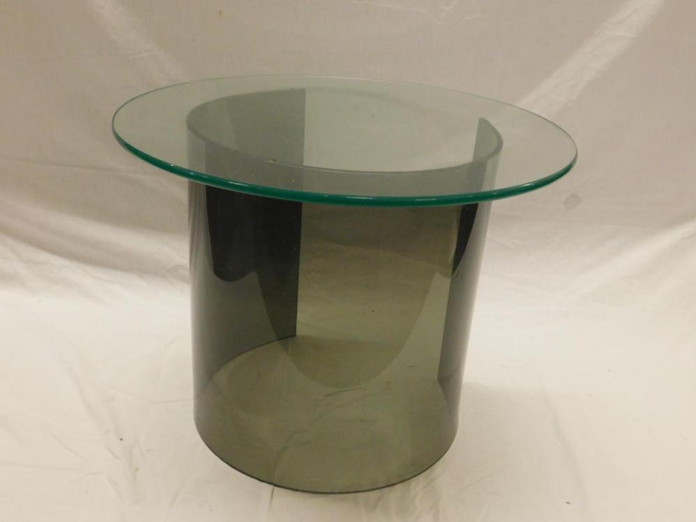 mcm c form lucite glass ocassional table