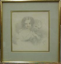 W. Sharp, Graphite on Paper, Sisters