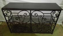 Wrought Iron Server Cabinet