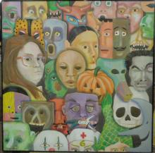 K. McFadden, o/c, Faces & Masks