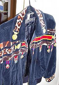 Vintage Escada velvet short jacket