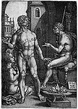 Aldegrever, Heinrich: Mucius Scaevola vor Porsenna