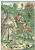 Wohlgemuth, Michael: Josua kniet barfuss vor einem Engel, Moses vor dem brennenden Dorbusch, Michael Wohlgemuth, Click for value
