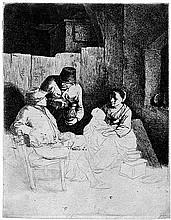Bega, Cornelis: Mutter mit Kind in der Dorfschenke
