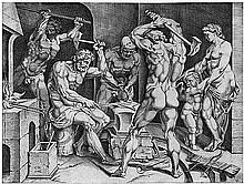 Bos, Cornelis: Venus in der Schmiede des Vulkan.