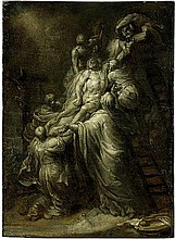 Flämisch: 17. Jh. Kreuzabnahme Christi