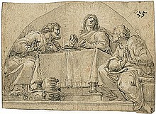 Asam, Hans Georg: Christus in Emmaus