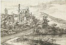 Asselijn, Jan: Flußlandschaft mit Ruinen am linken Uferrand