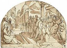 Florentinisch: 1. Viertel 17. Jh. Bischof Ardingo von Florenz erteilt den sieben Gründern des Servitenordens seinen Segen.