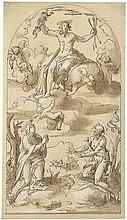 Italienisch: um 1600. Der strafende Christus