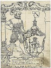 Lang I, Hans Caspar - zugeschrieben: Edelmann mit Wappen mit Totenkopf