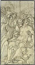 Niederländisch - Umkreis: um 1580. Die Beweinung Christi
