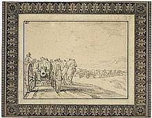 Niederländisch: 17. Jh. Soldatenzug mit Pferden und Kanonen