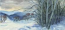 Gerlach, Erich: Abendliche Winterlandschaft (Erzgebirge)