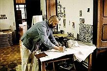Quinn, Edward: Georg Baselitz in his studio