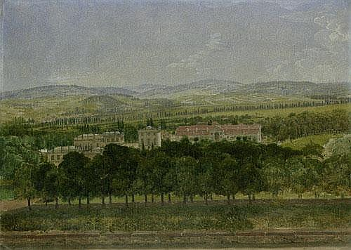 Grimm, Ludwig Emil Blick auf die Orangerie und