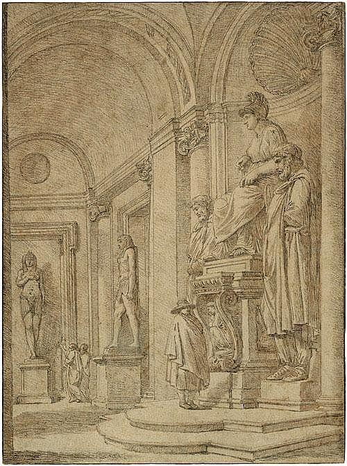 Ango, Robert Statue der Minerva Die Statue der