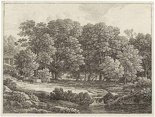 Reinhart, Johann Christian Waldige Landschaft mit