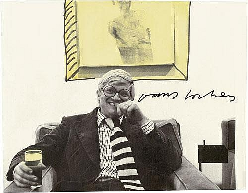 Hockney, David: Portrait of David Hockney by Klaus Behr