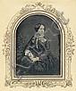 Daguerreotypes (Carl Ferdinand Stelzner): Portrait of a finely dressed woman, Carl Ferdinand Stelzner, Click for value
