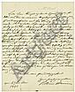 Arnim, Bettina von: Brief 1843 an Wilhelm Künzel