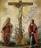 Spanisch, um 1600: Die Kreuzigung mit Maria und Johannes