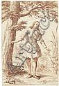Herz, Johann Daniel: Junger Kavalier im Gehrock vor einem Baum, Johann Daniel (1693) Herz, Click for value