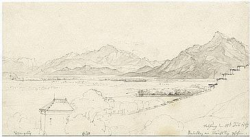Reinhold, Franz: Blick vom Mönchsberg aufs Salzburger Land