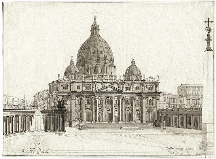 Ferri, Augusto: Ansicht der von St. Peter in Rom