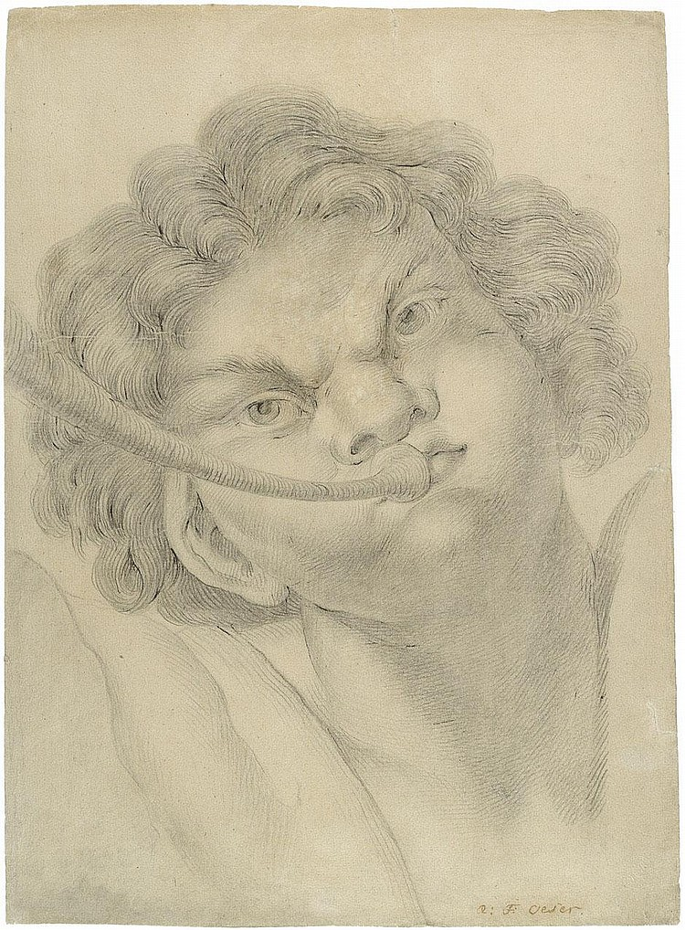 Oeser, Adam Friedrich: Posaune blasender Satyr