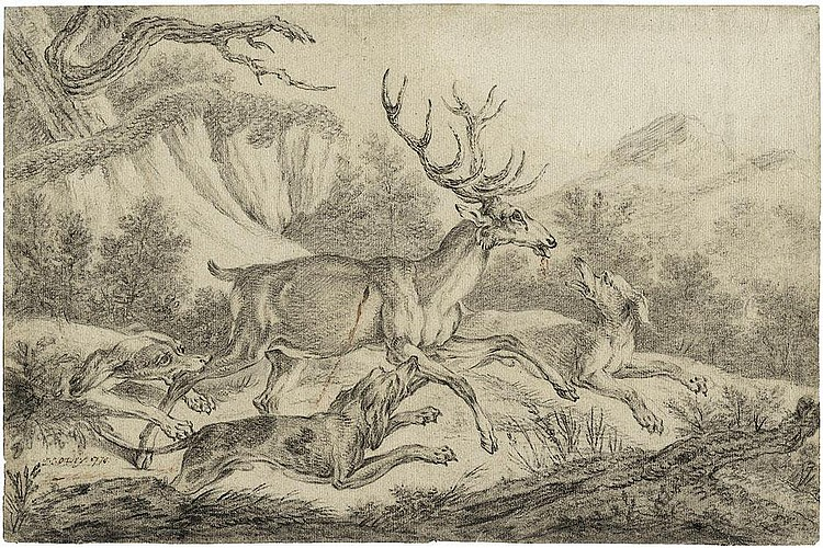 Oudry, Jacques Charles: Hirschjagd