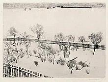 Olbricht, Alexander: Vorstadtgarten im Schnee