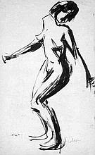 Melzer, Moriz: Tanzender weiblicher Akt