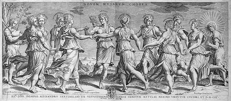 Thomassin, Philippe: Apollo, von den Musen umkreist