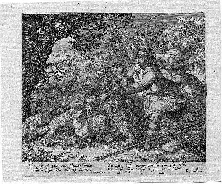 Serwouters, Pieter : David und der Bär