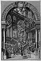 Bibiena, Giuseppe Galli - nach: Monumentales Architekturcapriccio, Giuseppe Galli Bibiena, Click for value