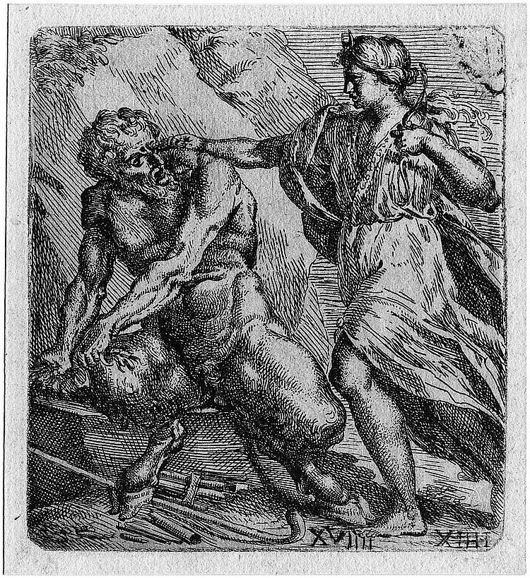 Bellavia, Marcantonio: Diana und Pan
