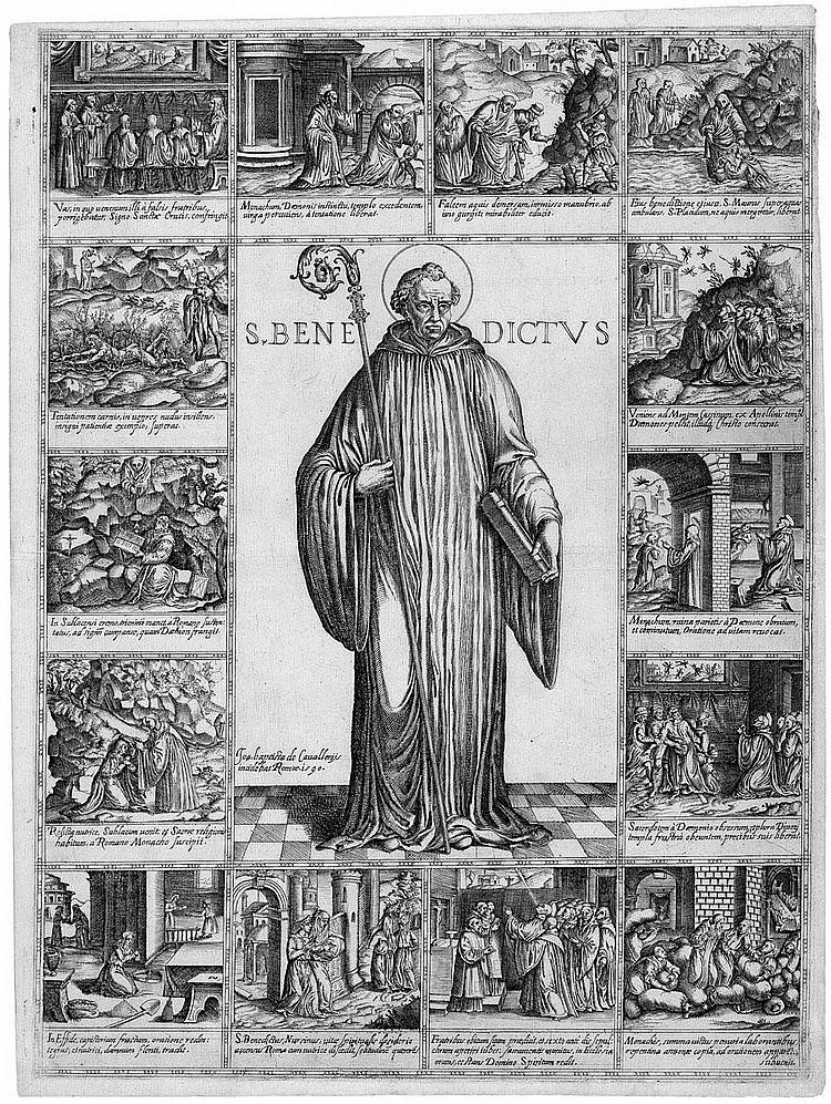 Cavalieri, Giovanni Battista de: St. Benedictus