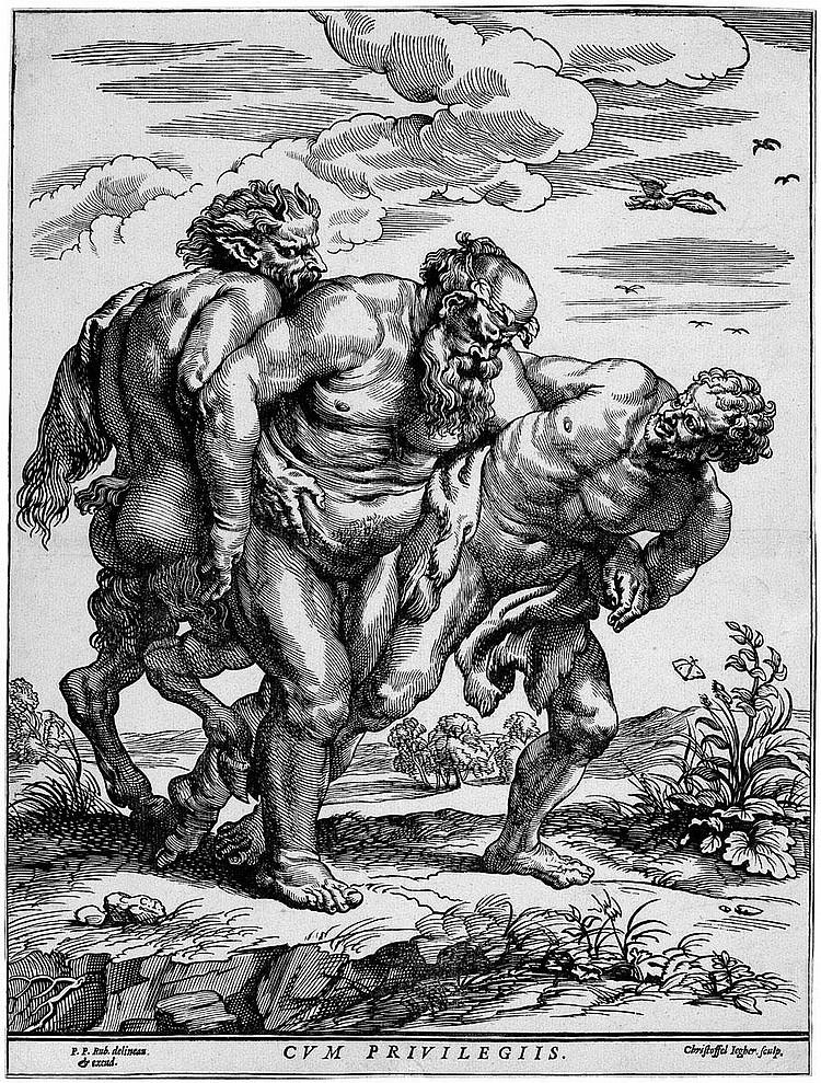 Jegher, Christoffel: Silen, begleitet von Sartyr und Faun