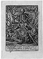 Wierix, Hieronymus: Allegorie der Eitelkeit, Hieronymus Wierix, Click for value