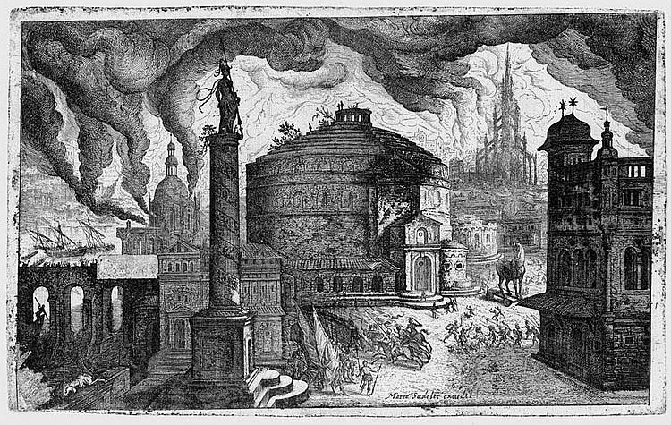 Major, Isaak: Phantastische Ansicht vom brennenden Troja
