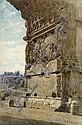 Cipriani, Nazzareno: Der Titusbogen mit dem Relief der Bundeslade, Nazzareno Cipriani, Click for value