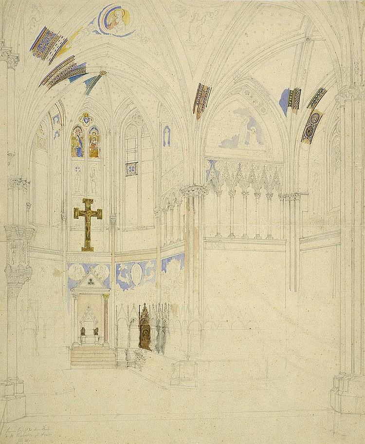 Hauschild, Maximilian: Innenansicht von S. Francesco zu Assisi