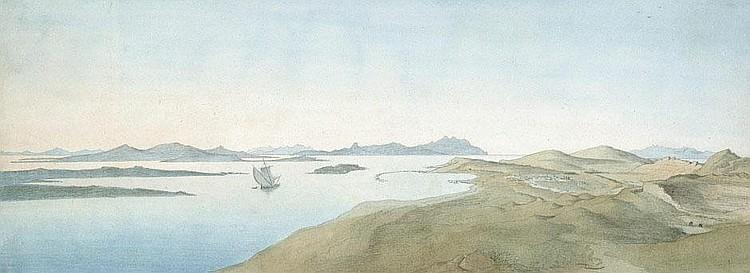 Wittmer, Johann Michael II: Panorama-Ansicht von Delos