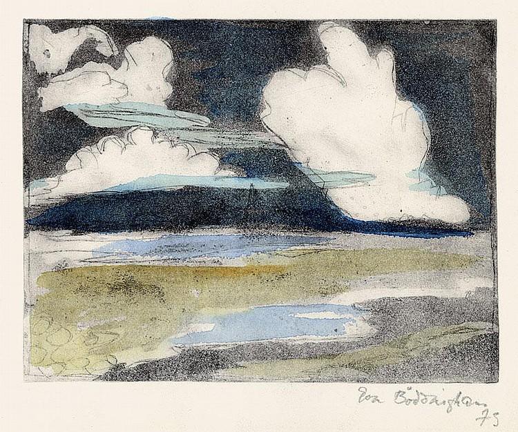 Böddinghaus, Eva: Ufer mit Wolken