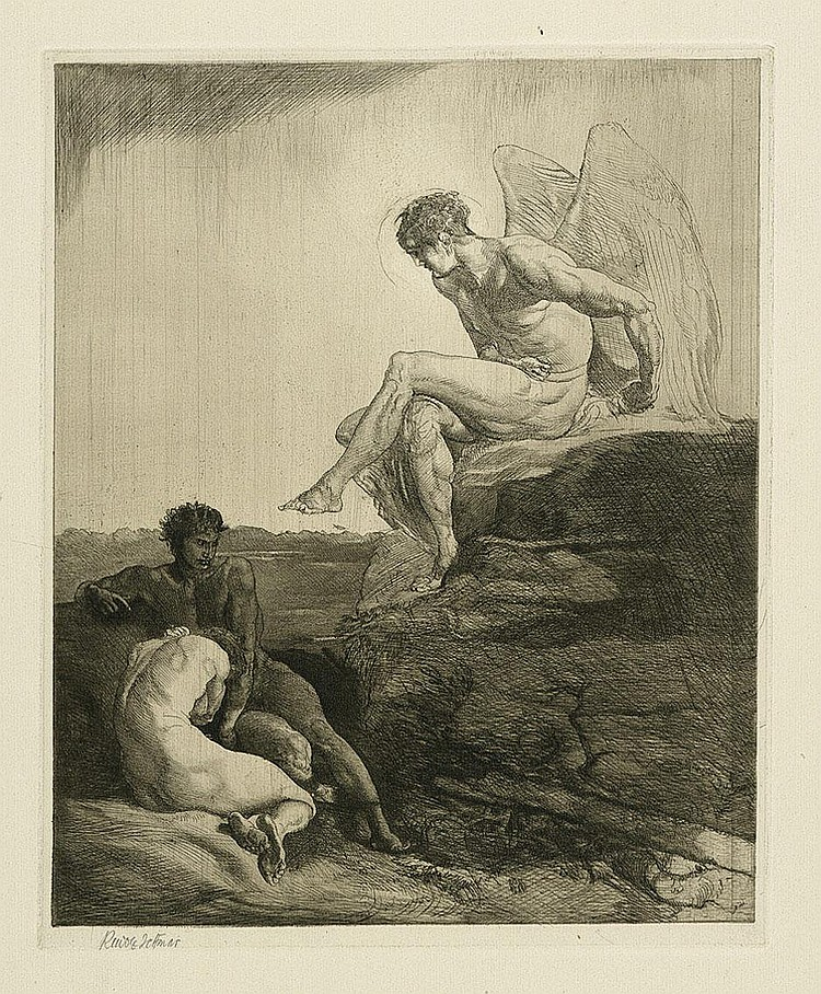 Jettmar, Rudolf: Acht Radierungen zu Byrons Kain