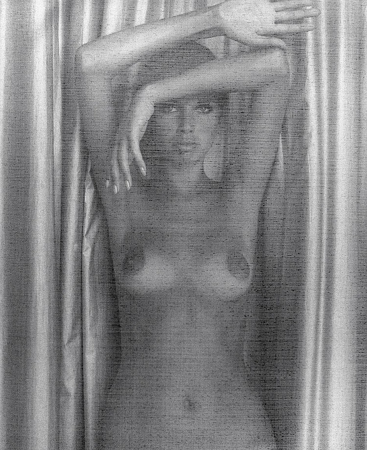 March, Charlotte: Female nude behind screen, Mexico